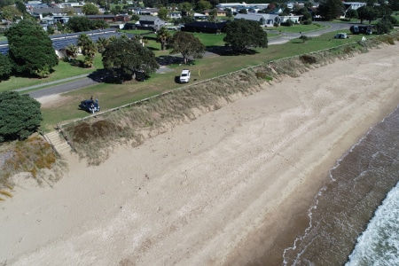 photo of beach and foreshore from drone